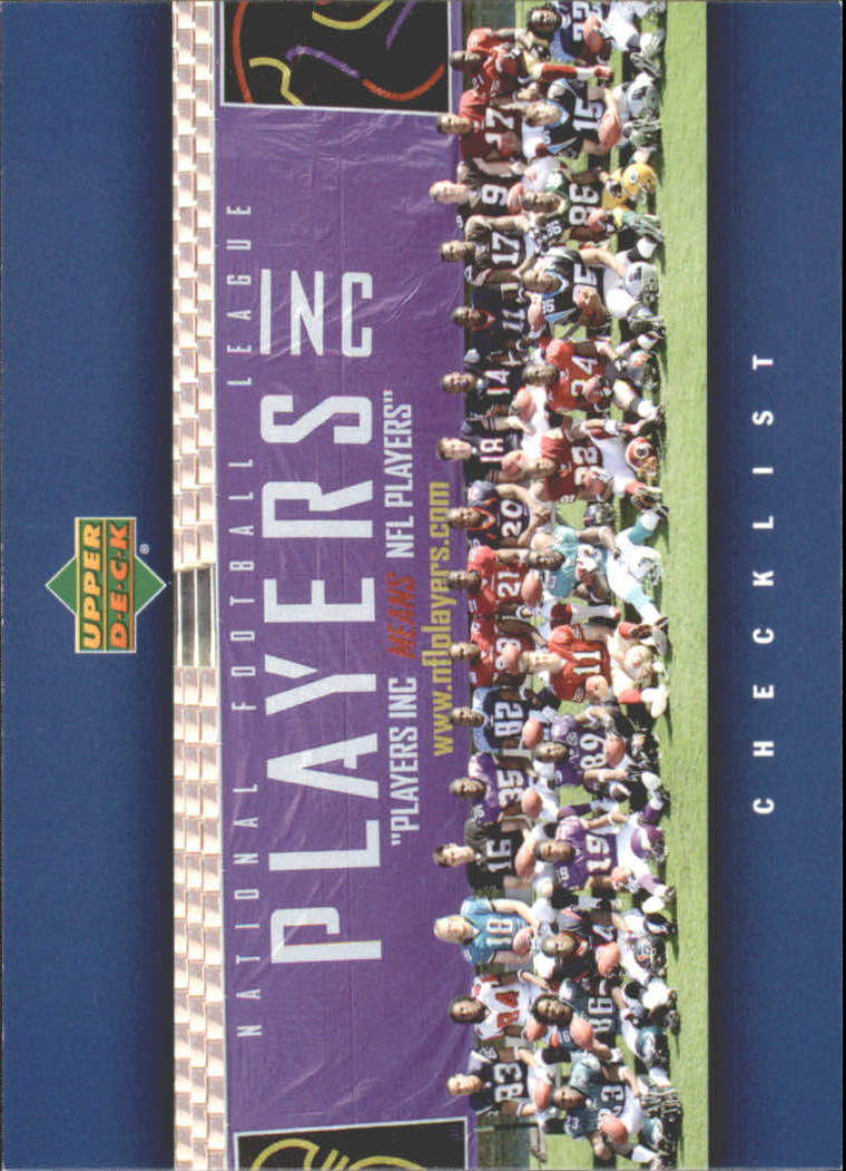 2005 Upper Deck Rookie Premiere #30 Checklist Card