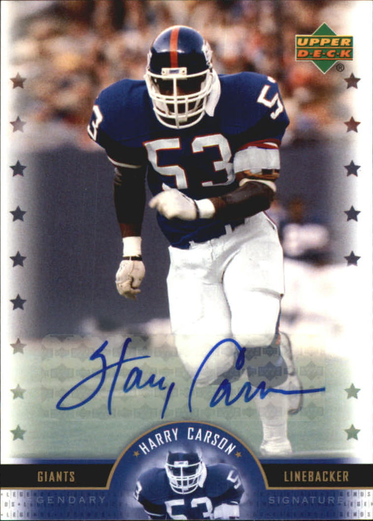 2005 Upper Deck Legends Legendary Signatures #HC Harry Carson