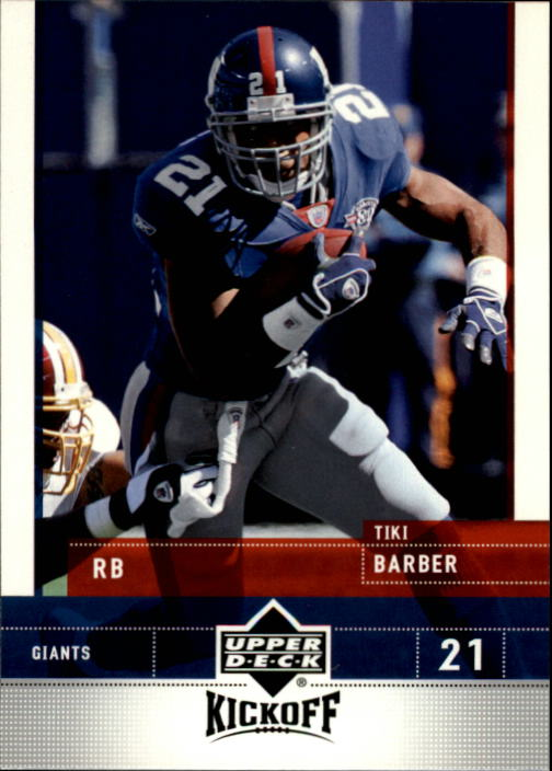 2005 Upper Deck Kickoff #60 Tiki Barber