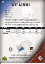2005 Upper Deck #225 Mike Williams back image