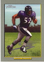 2005 Topps Turkey Red #4B Ray Lewis Ad Back