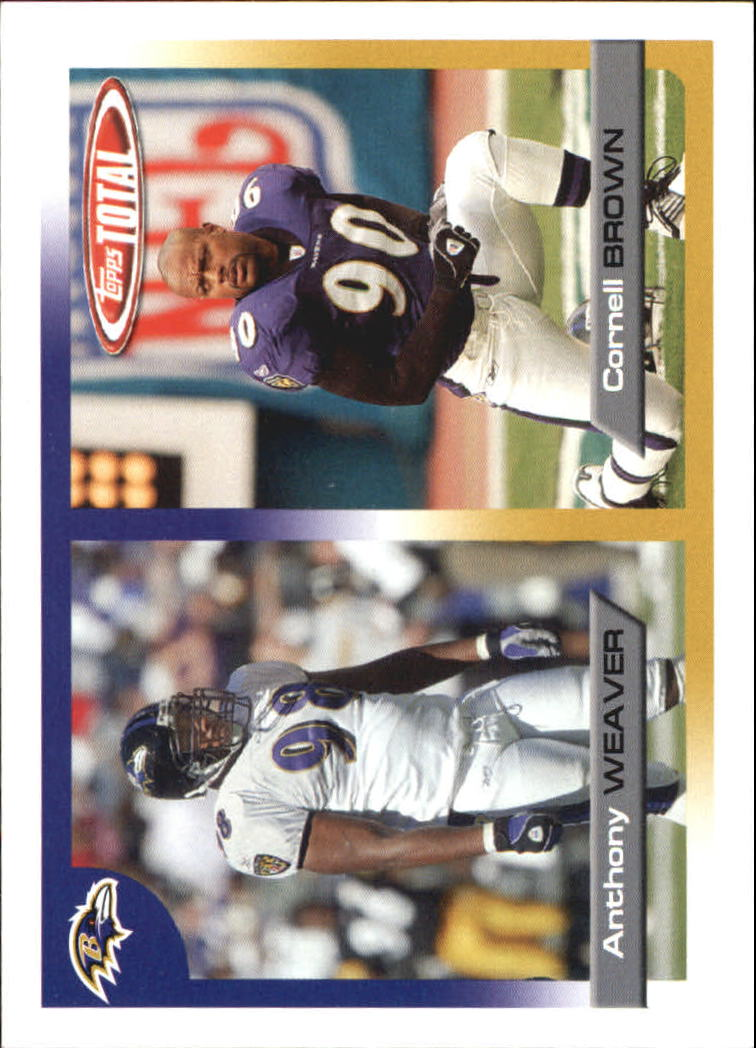 2005 Topps Total #102 Cornell Brown RC/Anthony Weaver