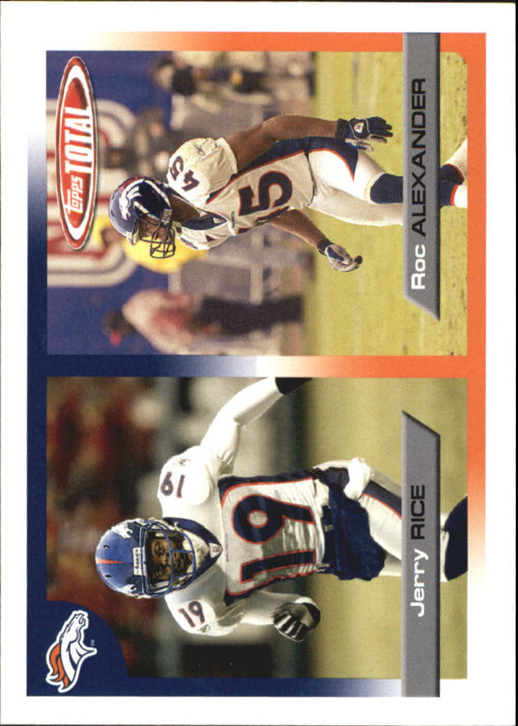 2005 Topps Total #148 Jerry Rice/Roc Alexander