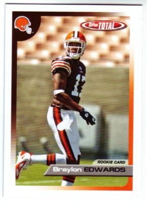 2005 Topps Total #517 Braylon Edwards RC