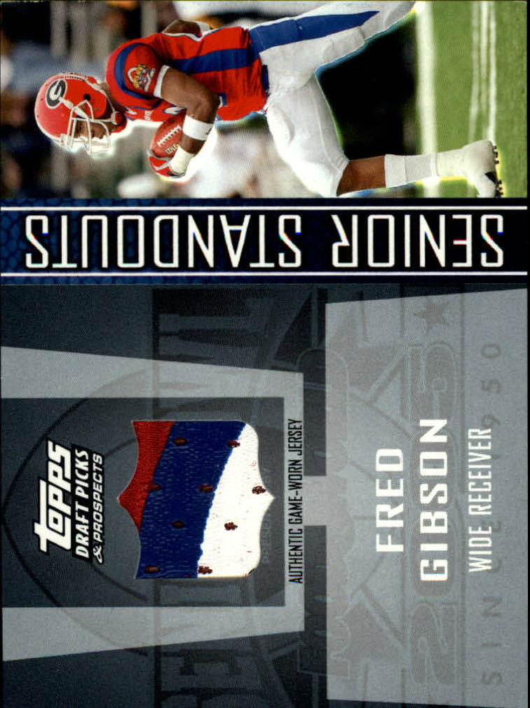 2005 Topps Draft Picks and Prospects Senior Standout Jersey Rainbow #SSFG Fred Gibson