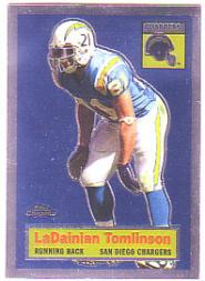 2005 Topps Chrome Throwbacks #TB1 LaDainian Tomlinson