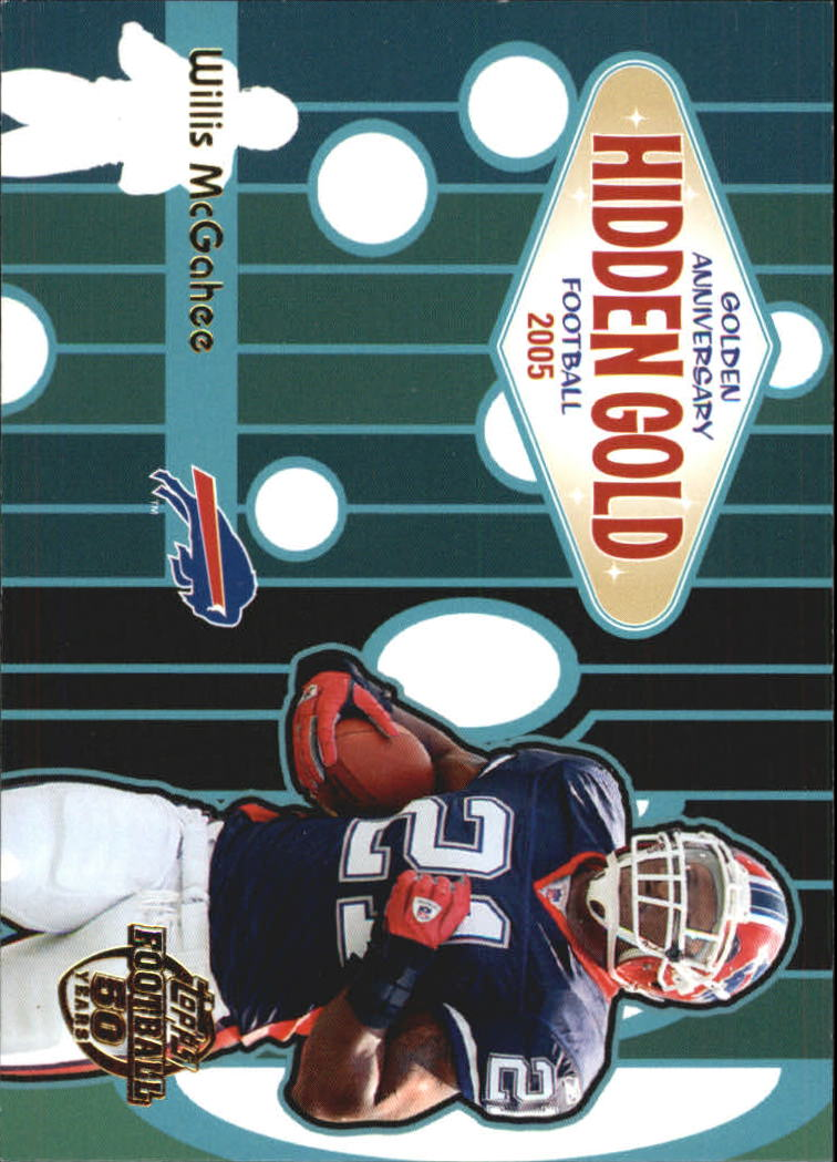 2005 Topps Golden Anniversary Hidden Gold #HG7 Willis McGahee
