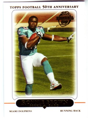 2005 Topps #411 Ronnie Brown RC front image