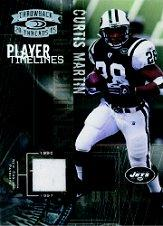 2005 Throwback Threads Player Timelines Dual Material #8 Curtis Martin