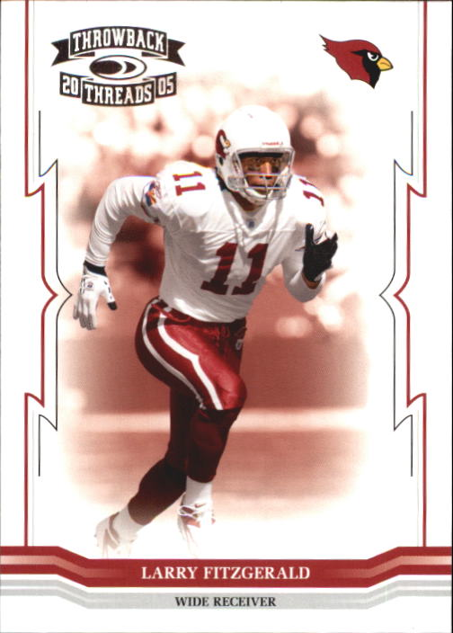 2005 Throwback Threads #4 Larry Fitzgerald