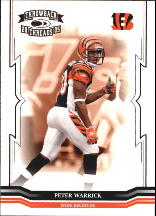 2005 Throwback Threads #31 Peter Warrick