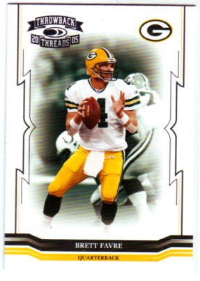 2005 Throwback Threads #55 Brett Favre
