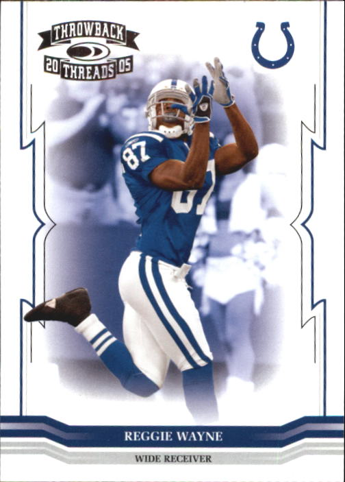2005 Throwback Threads #66 Reggie Wayne