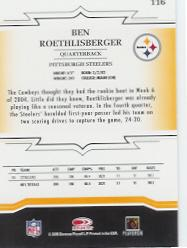 2005 Throwback Threads #116 Ben Roethlisberger back image