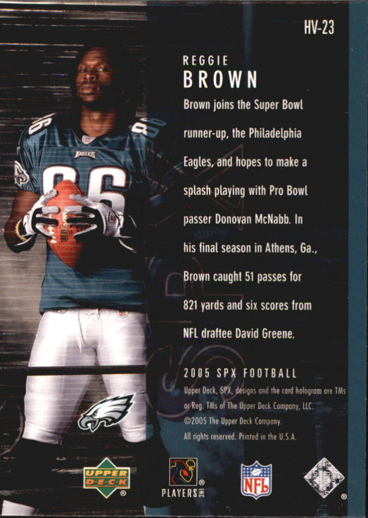 2005 SPx Holoview #23 Reggie Brown back image