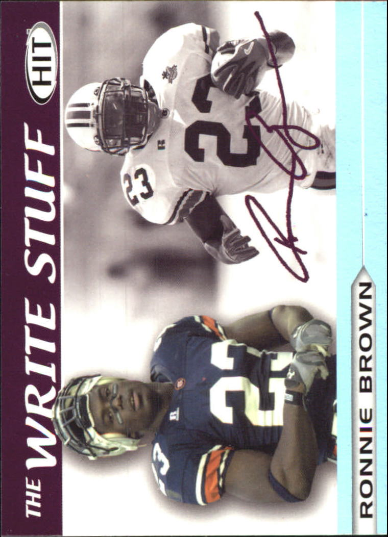 2005 SAGE HIT Write Stuff #1 Ronnie Brown front image