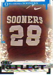 2005 SAGE HIT Reflect Silver #R52 Oklahoma RB #28 SP/(Adrian Peterson)