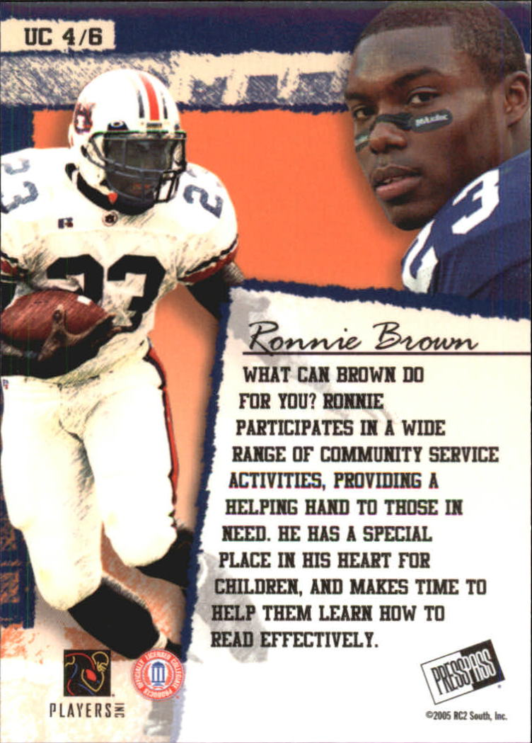 2005 Press Pass SE Up Close #UC4 Ronnie Brown back image