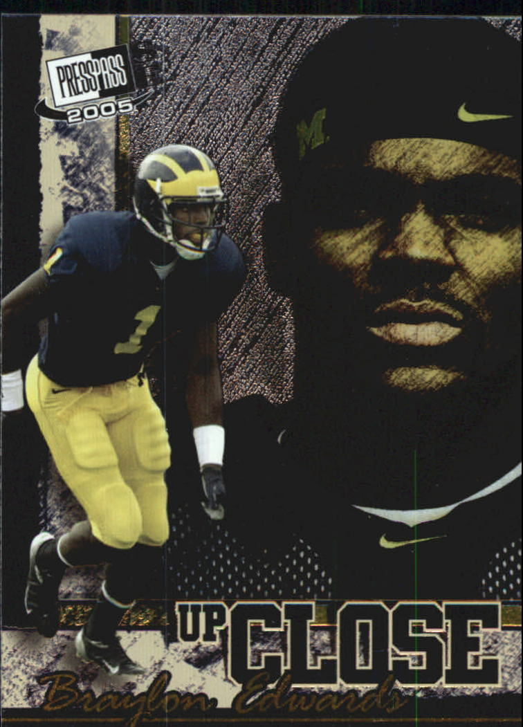 2005 Press Pass SE Up Close #UC5 Braylon Edwards front image