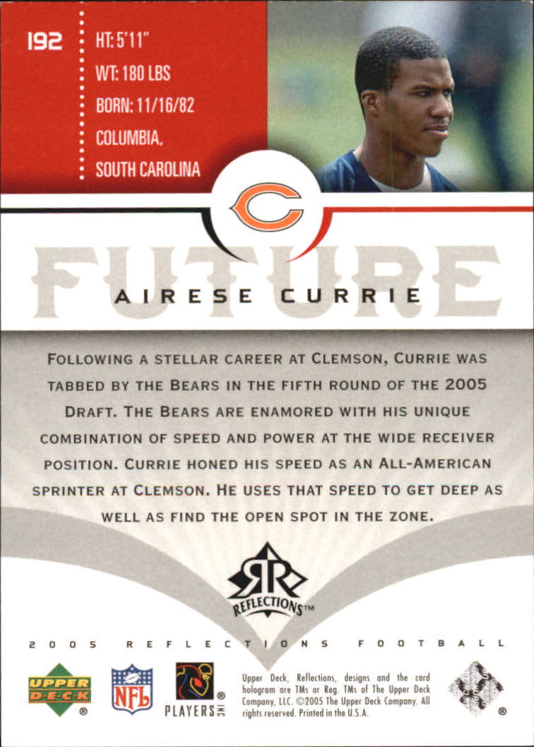 2005 Reflections #192 Airese Currie RC