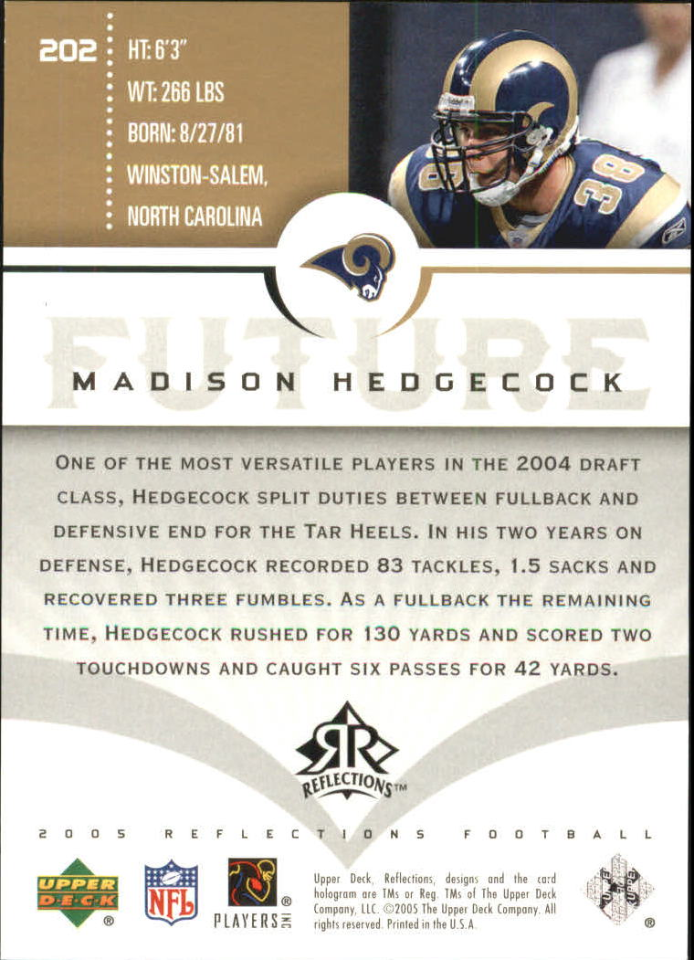 2005 Reflections Gold #202 Madison Hedgecock
