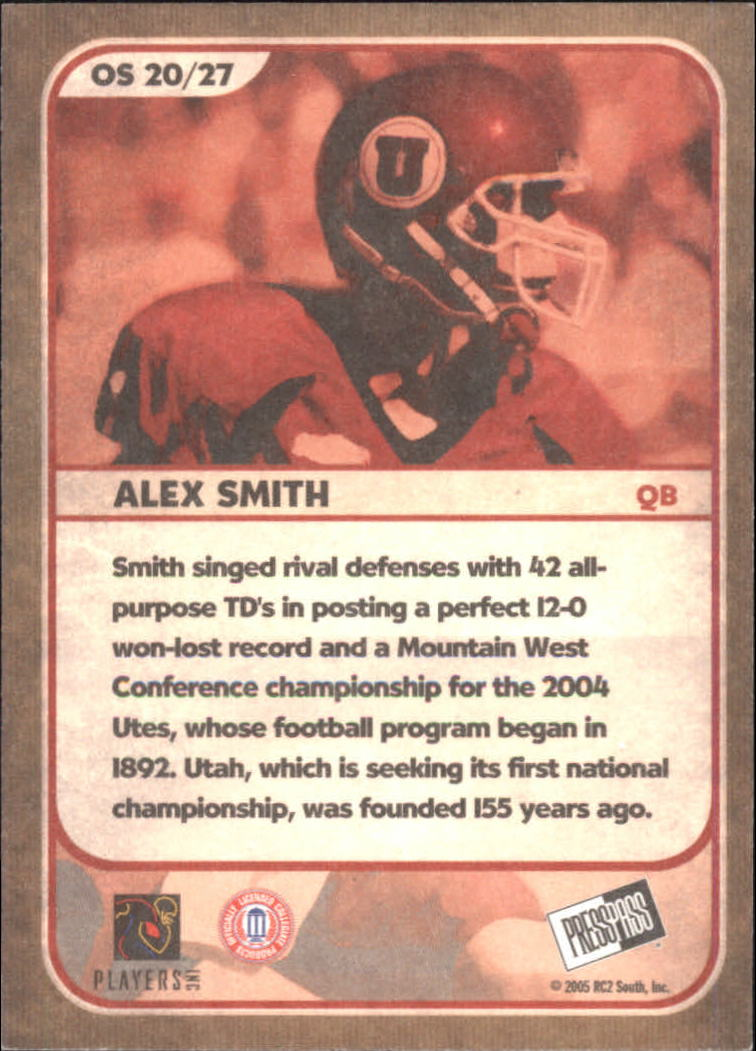 2005 Press Pass SE Old School #OS20 Alex Smith QB back image