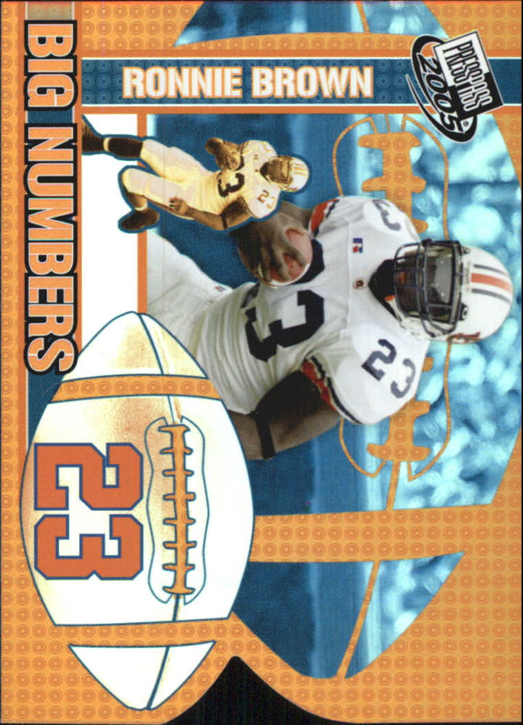 2005 Press Pass Big Numbers #BN2 Ronnie Brown