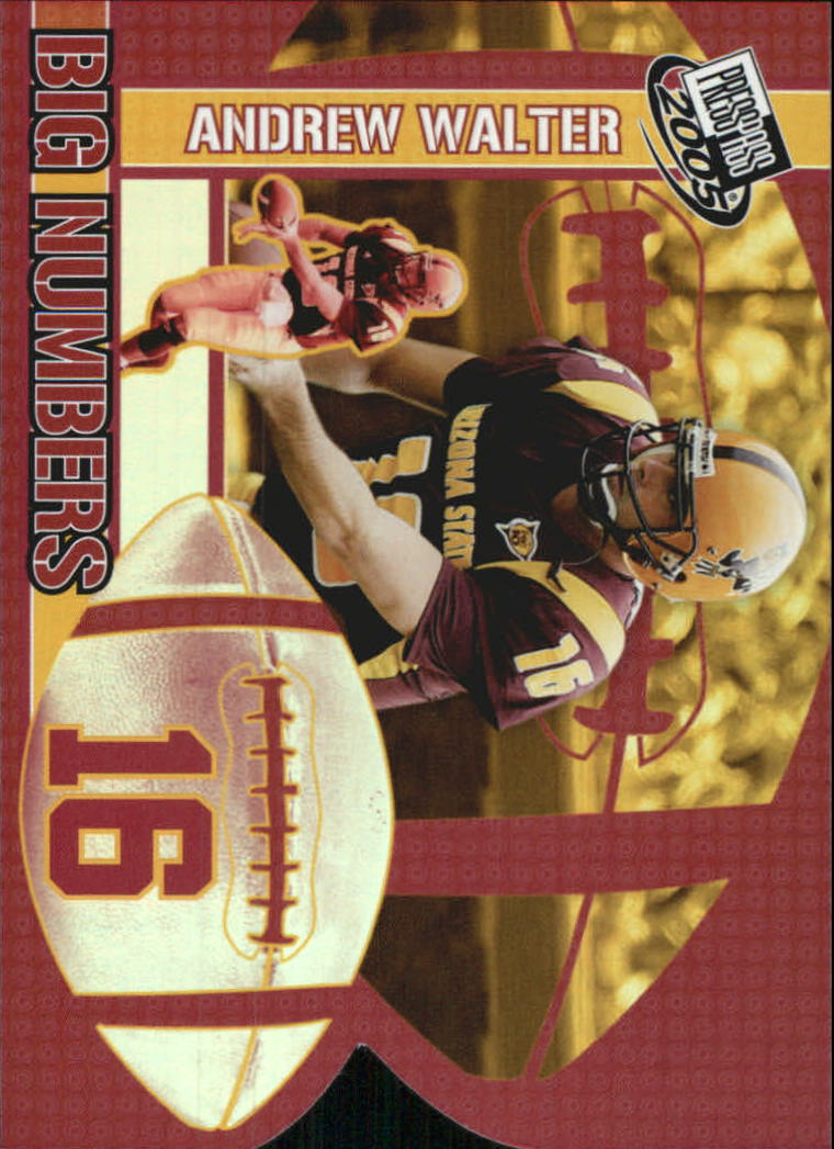 2005 Press Pass Big Numbers #BN20 Andrew Walter