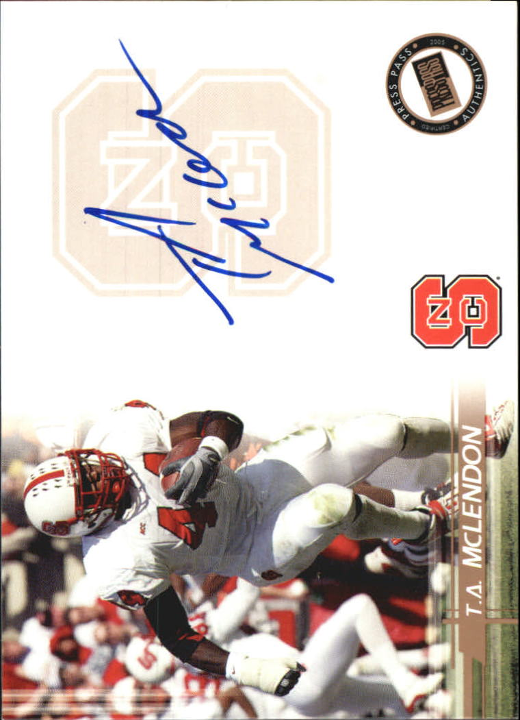 2005 Press Pass Autographs Bronze #35 T.A. McLendon