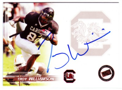 2005 Press Pass Autographs Bronze #57 Troy Williamson