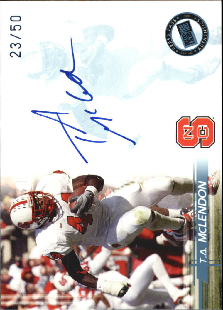 2005 Press Pass Autographs Blue #35 T.A. McLendon/33*