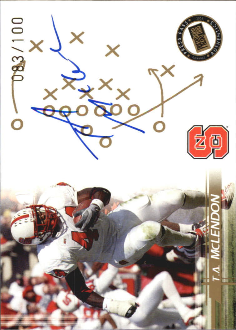 2005 Press Pass Autographs Gold #35 T.A. McLendon/88*