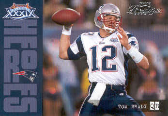 2005 Playoff Prestige Super Bowl Heroes #SH1 Tom Brady