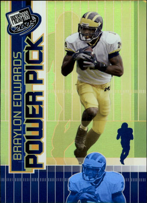 2005 Press Pass #49 Braylon Edwards PP
