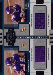 2005 Playoff Honors Rookie Tandem Jerseys #RT5 Troy Williamson/Ciatrick Fason
