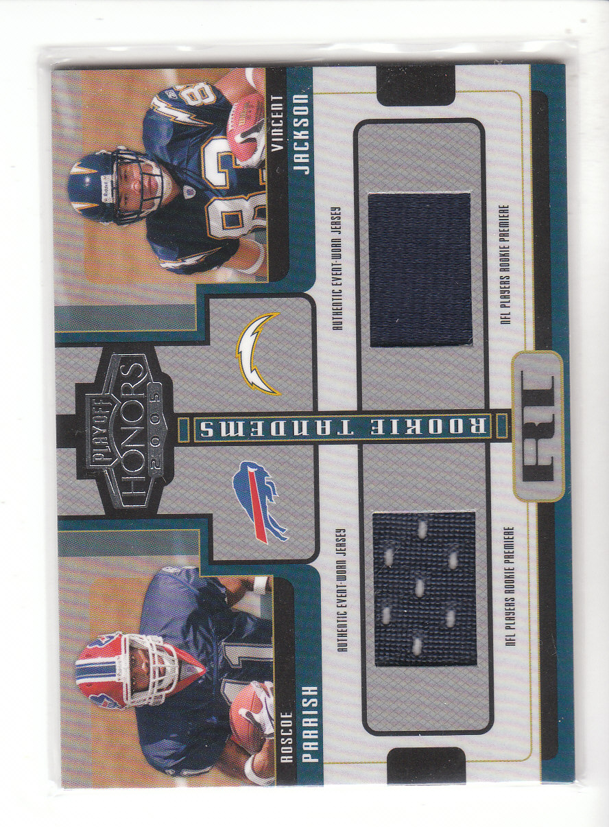 2005 Playoff Honors Rookie Tandem Jerseys #RT10 Roscoe Parrish/Vincent Jackson