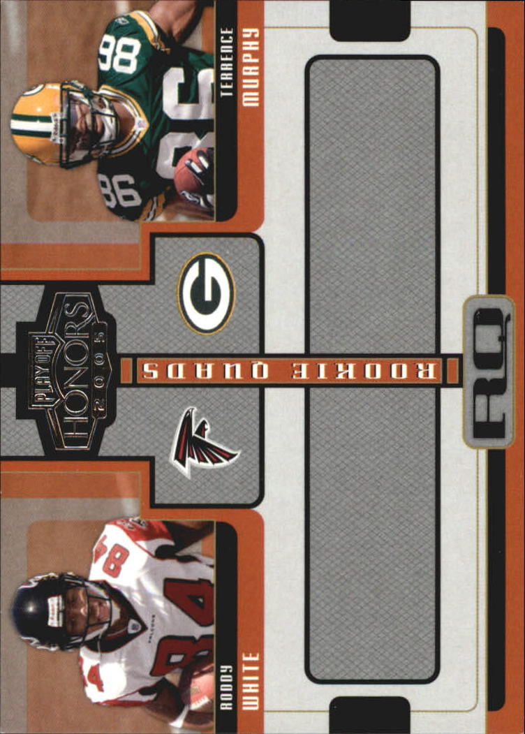 2005 Playoff Honors Rookie Quad #RQ7 Roddy White/Terrence Murphy/Eric Shelton/Stefan LeFors