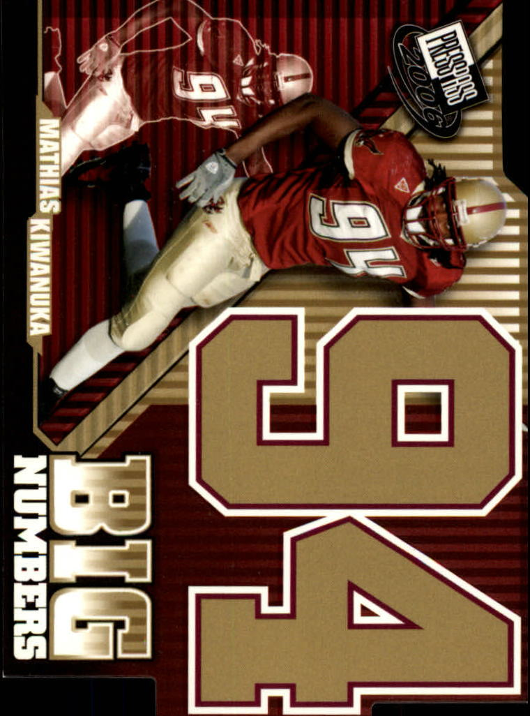 2006 Press Pass Big Numbers #BN2 Mathias Kiwanuka