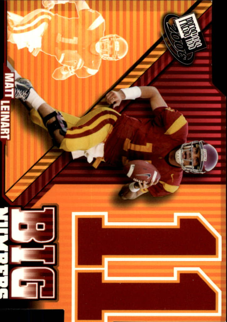 2006 Press Pass Big Numbers #BN25 Matt Leinart