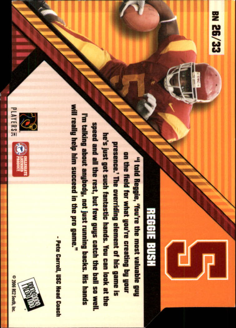 2006 Press Pass Big Numbers #BN26 Reggie Bush back image
