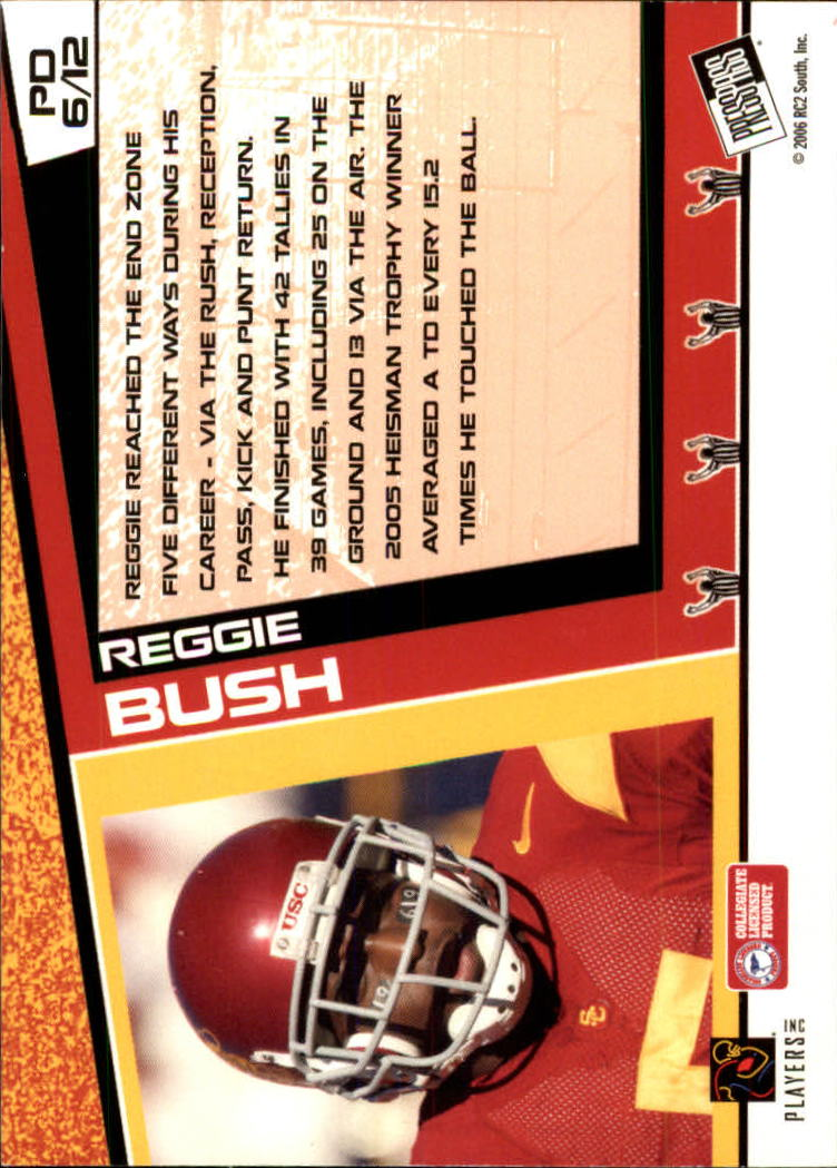 2006 Press Pass Paydirt #PD6 Reggie Bush back image