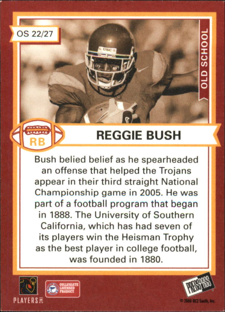 2006 Press Pass SE Old School #OS22 Reggie Bush back image