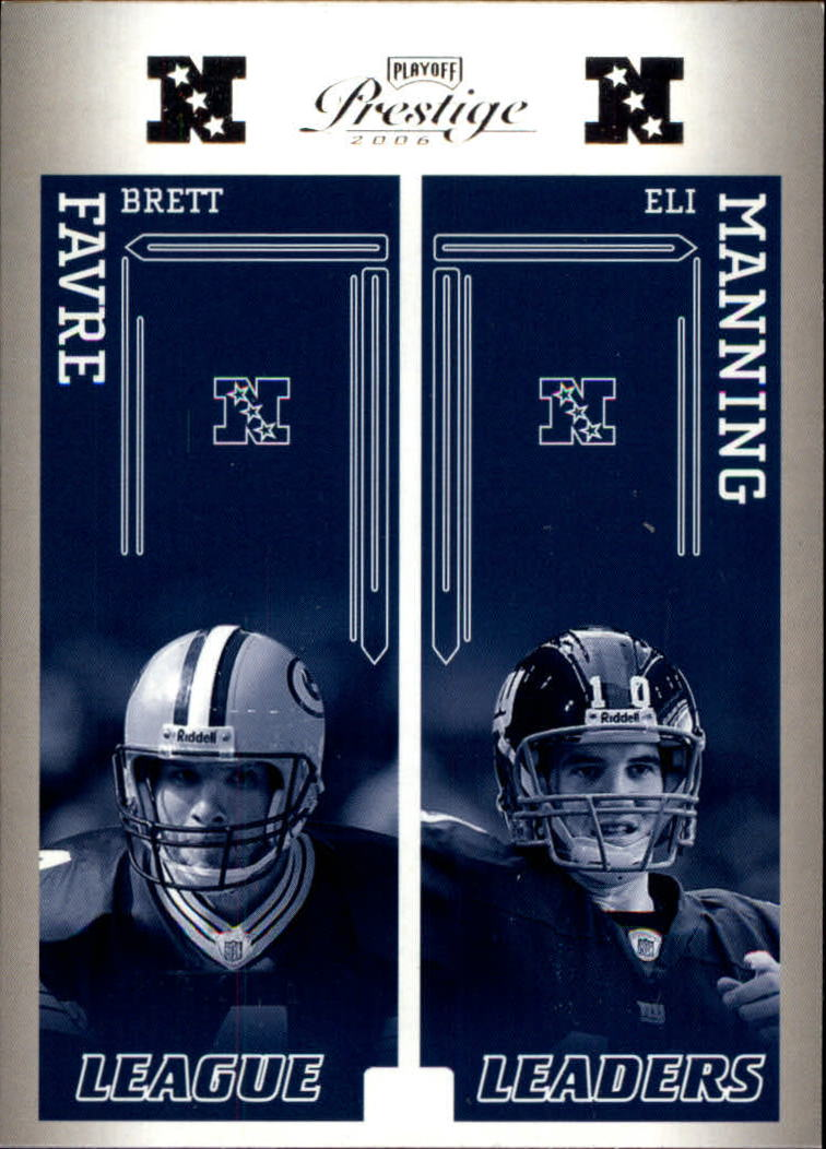 2006 Playoff Prestige League Leaders #1 Brett Favre/Eli Manning