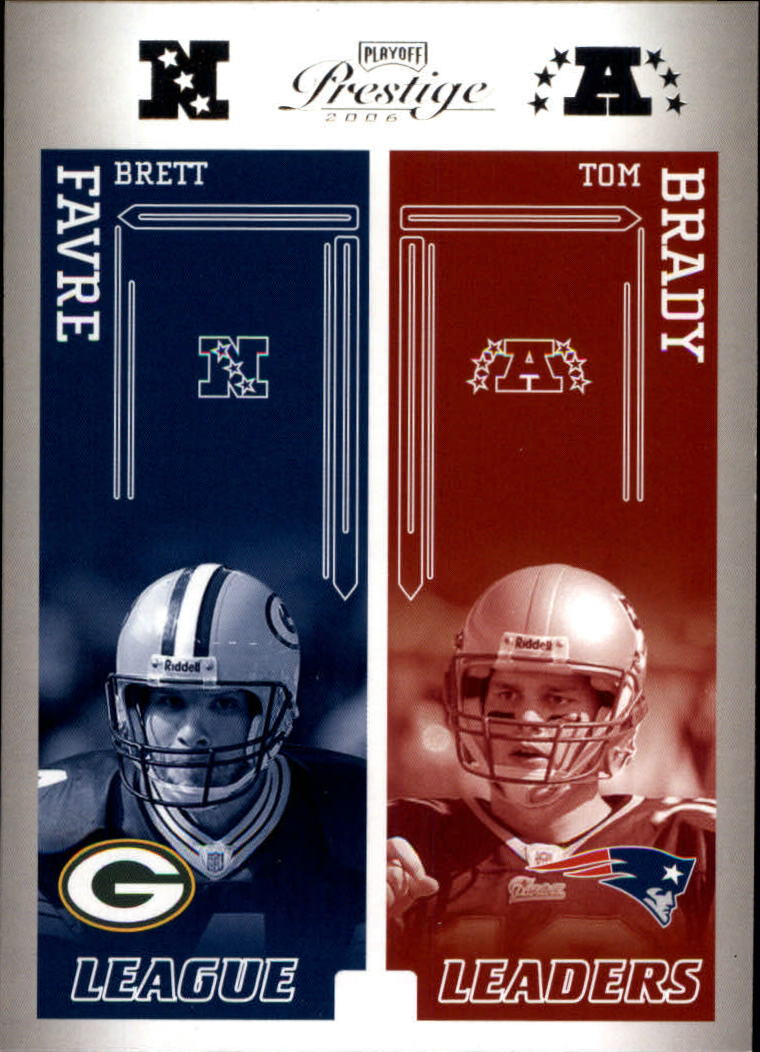 2006 Playoff Prestige League Leaders #21 Brett Favre/Tom Brady/Eli Manning/Trent Green