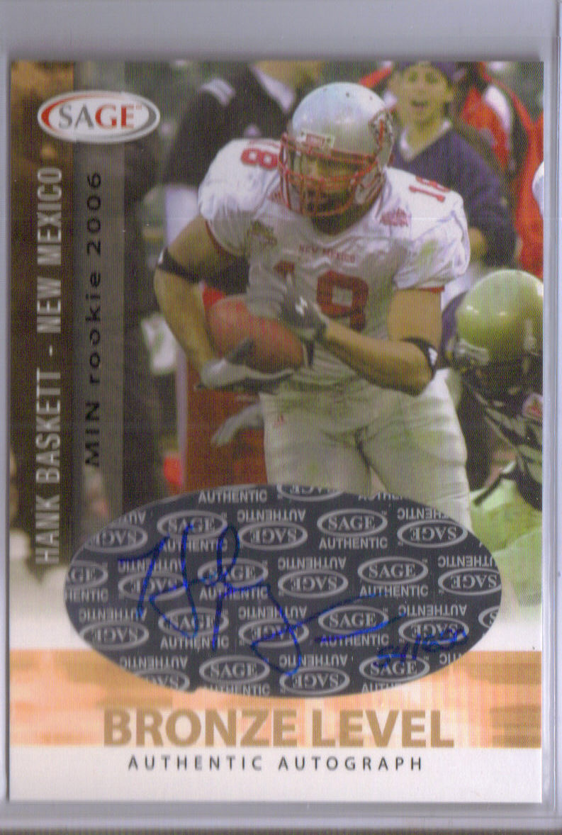 2006 SAGE Autographs Bronze #A4 Hank Baskett/650