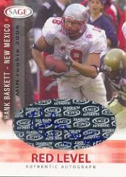 2006 SAGE Autographs Red #A4 Hank Baskett/999