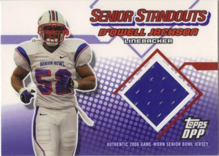 2006 Topps Draft Picks and Prospects Senior Standout Jersey #SSDJ D'Qwell Jackson B