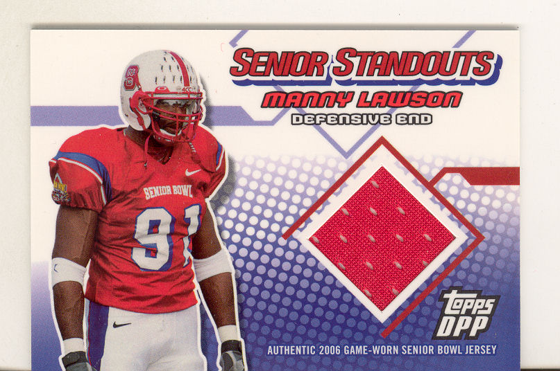 2006 Topps Draft Picks and Prospects Senior Standout Jersey #SSML Manny Lawson G
