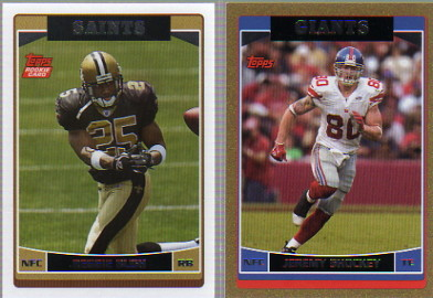 2006 Topps #359A Reggie Bush RC/Topps logo in upper left