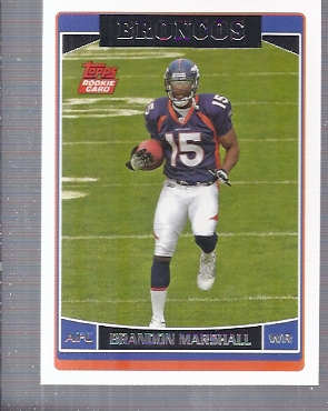 2006 Topps #385 Brandon Marshall RC